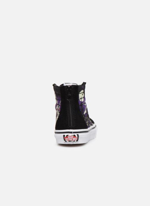 Sneaker Vans SK8-Hi Zip schwarz ansicht von rechts