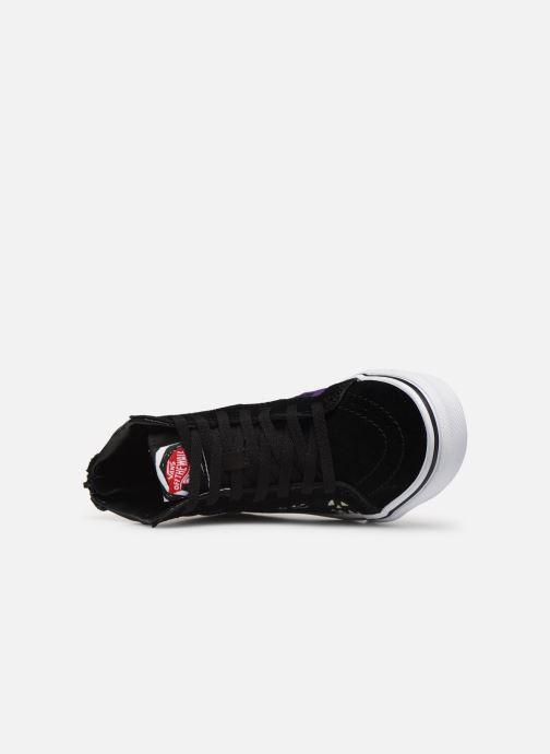 Sneaker Vans SK8-Hi Zip schwarz ansicht von links