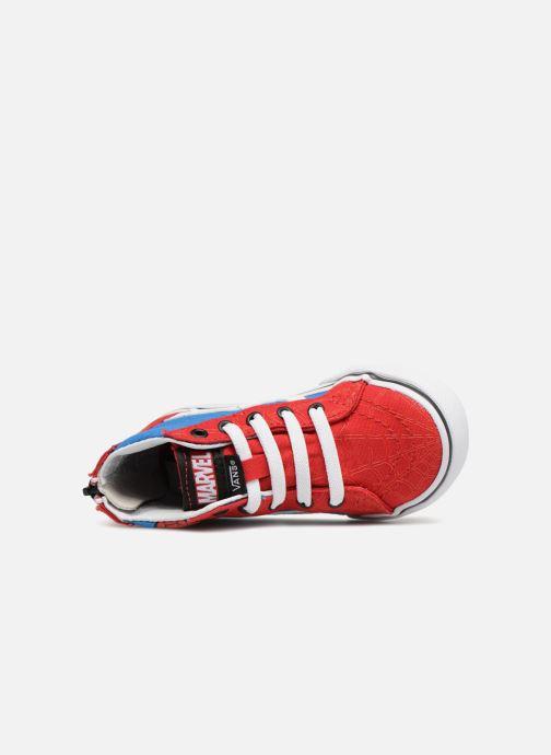 Baskets Vans SK8-Hi Zip BB Rouge vue gauche