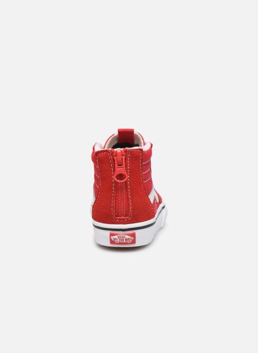 Sneakers Vans SK8-Hi Zip BB Rood rechts