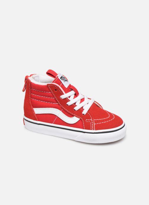 Baskets Vans SK8-Hi Zip BB Rouge vue détail/paire