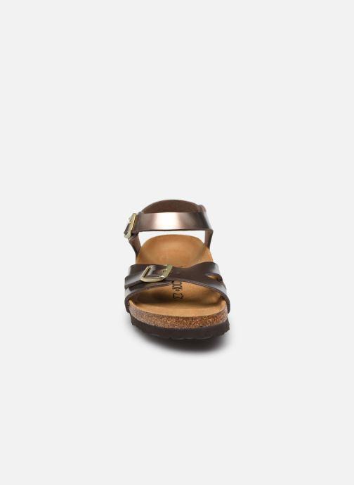 Sandalen Birkenstock Rio Flor W braun schuhe getragen