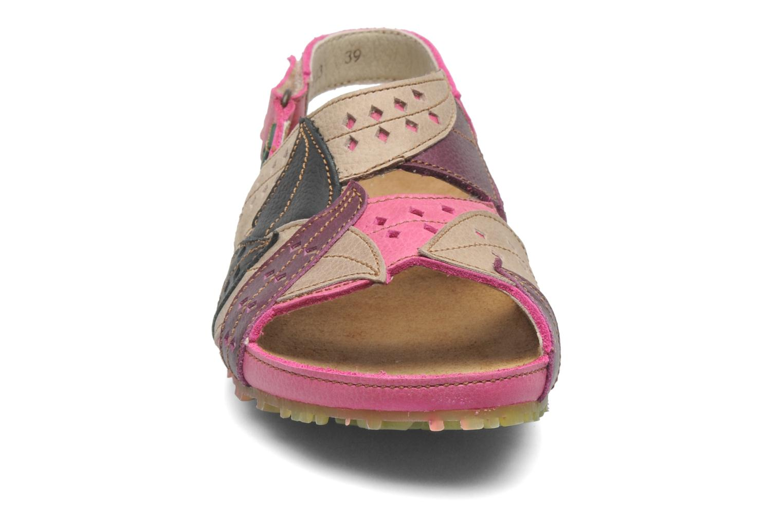 Sandales et nu-pieds El Naturalista Ikebana 133 Rose vue portées chaussures