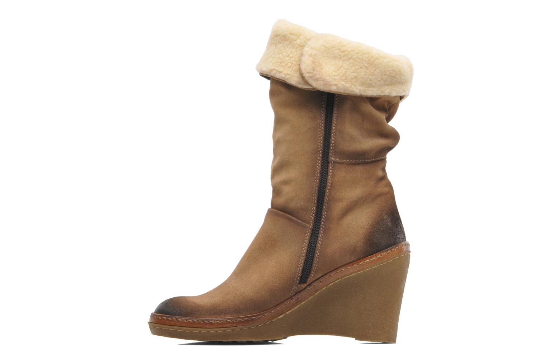 Bottines et boots Manas Joujou Beige vue face