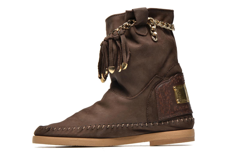 Bottines et boots Karma of Charme Dakota Gold Marron vue face