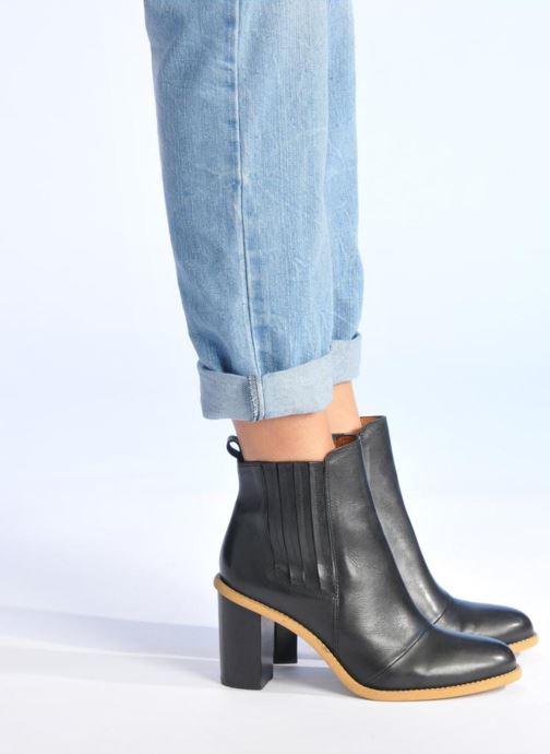 Stiefeletten & Boots Made by SARENZA Soft Folk Boots #13 schwarz ansicht von unten / tasche getragen