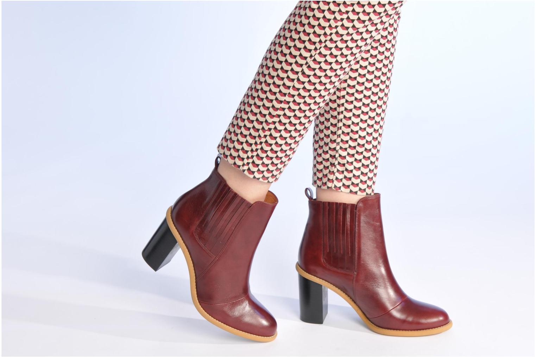 Stiefeletten & Boots Made by SARENZA Toundra Girl Bottines à Talons #1 weinrot ansicht von unten / tasche getragen