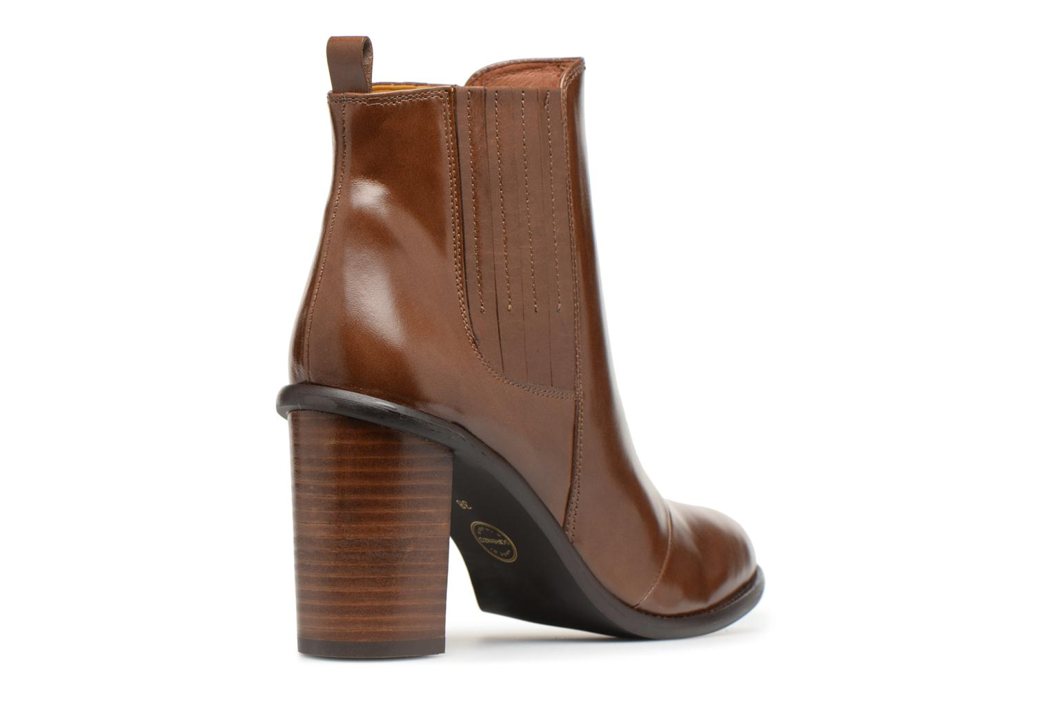Toundra Sarenza 1 Made Girl Lisse Cuir Talons Marron Bottines à By xAxfE
