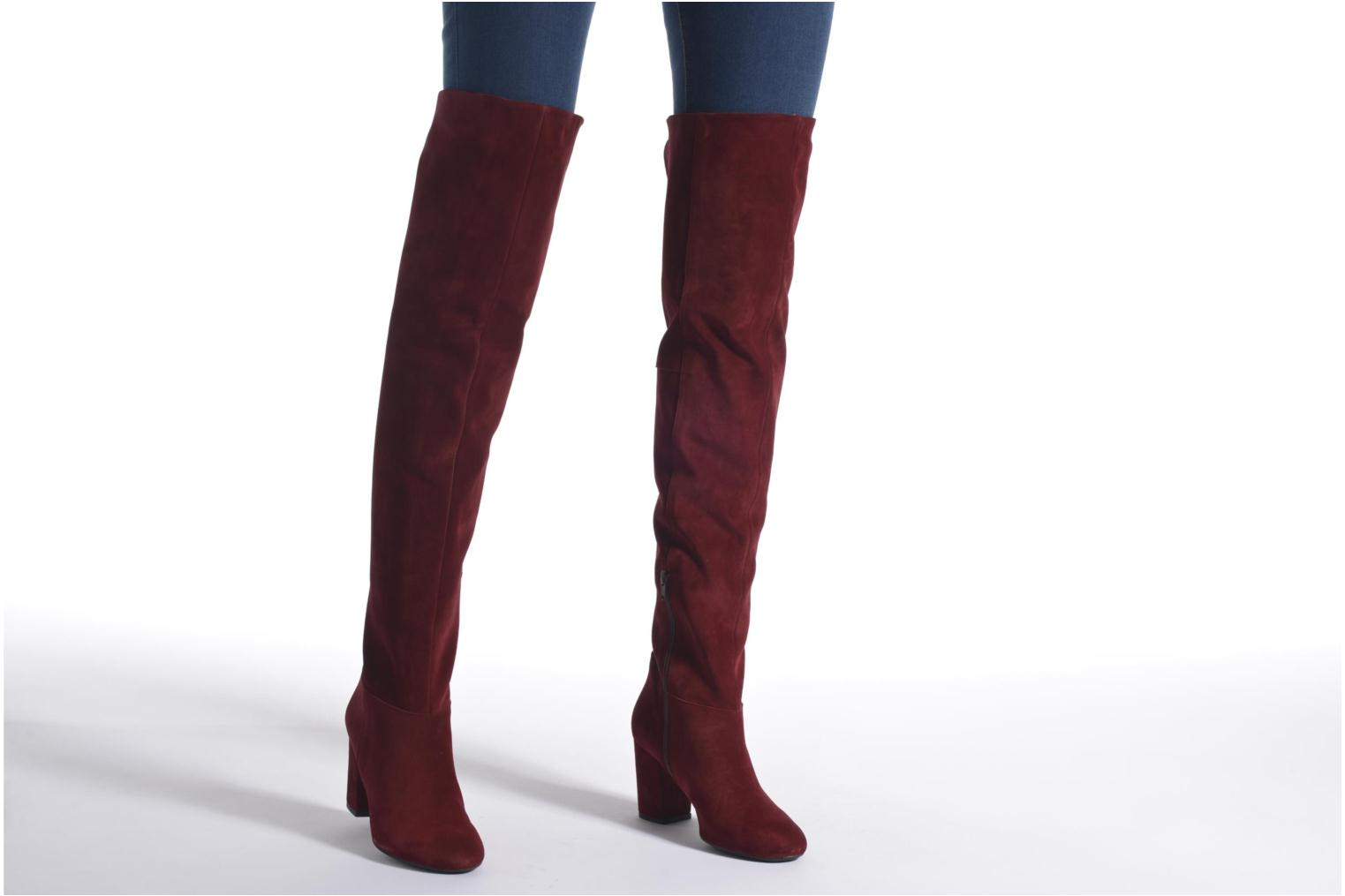 Boots & wellies Made by SARENZA Boots Camp #13 Burgundy view from underneath / model view