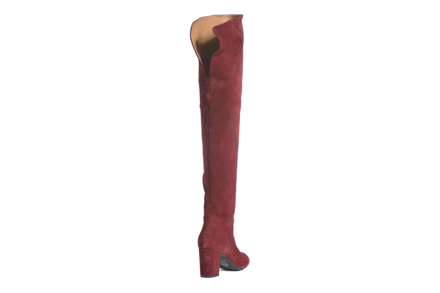 Boots & wellies Made by SARENZA Boots Camp #13 Burgundy front view