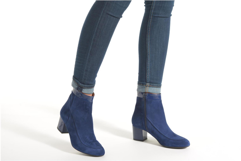 Bottines et boots Made by SARENZA Queens Cross #17 Bleu vue bas / vue portée sac
