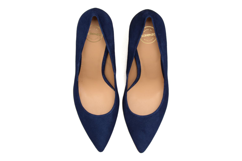 Escarpins Made by SARENZA Glaçons citrons #16 Bleu vue portées chaussures