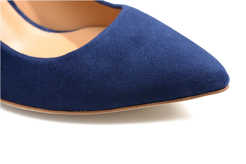 Escarpins Made by SARENZA Glaçons citrons #16 Bleu vue gauche