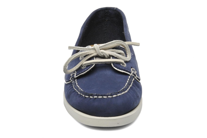 Mocassins Sebago Docksides Twoeye Bleu vue portées chaussures