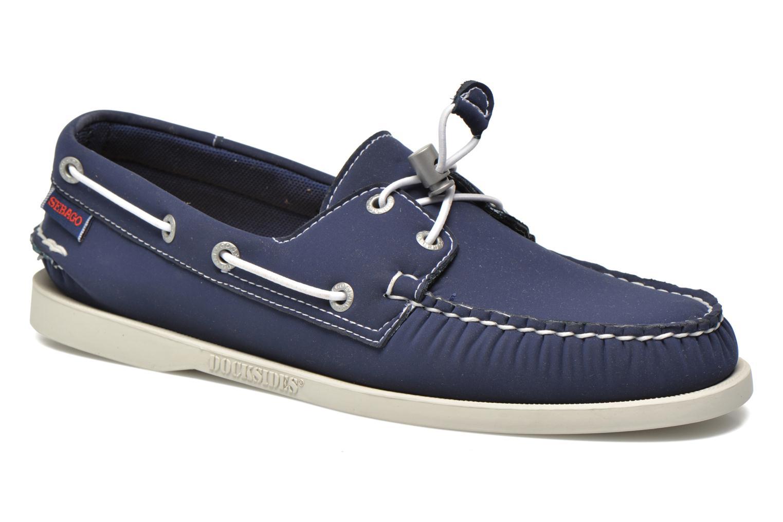Snøresko Sebago Docksides neoprene Blå detaljeret billede af skoene