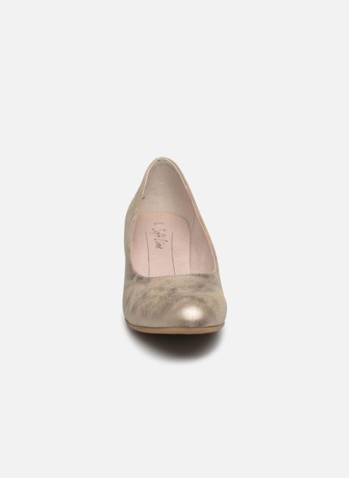 High heels Jana shoes Anis Bronze and Gold model view