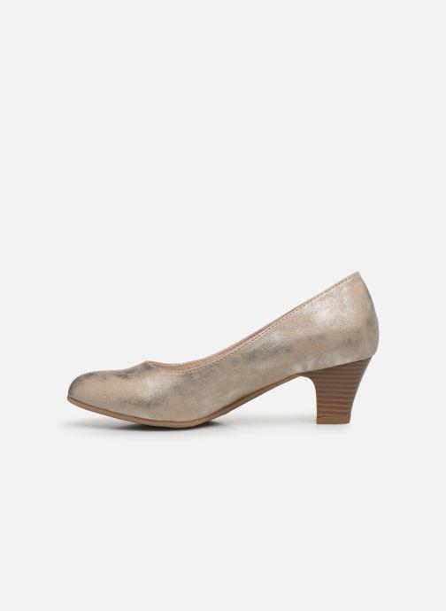 Escarpins Jana shoes Anis Or et bronze vue face