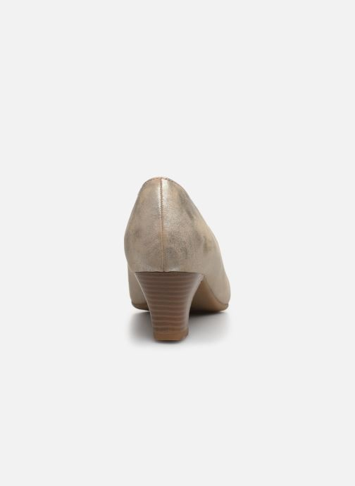 Zapatos de tacón Jana shoes Anis Oro y bronce vista lateral derecha