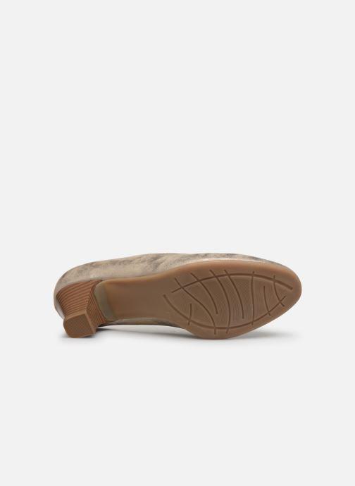 Zapatos de tacón Jana shoes Anis Oro y bronce vista de arriba