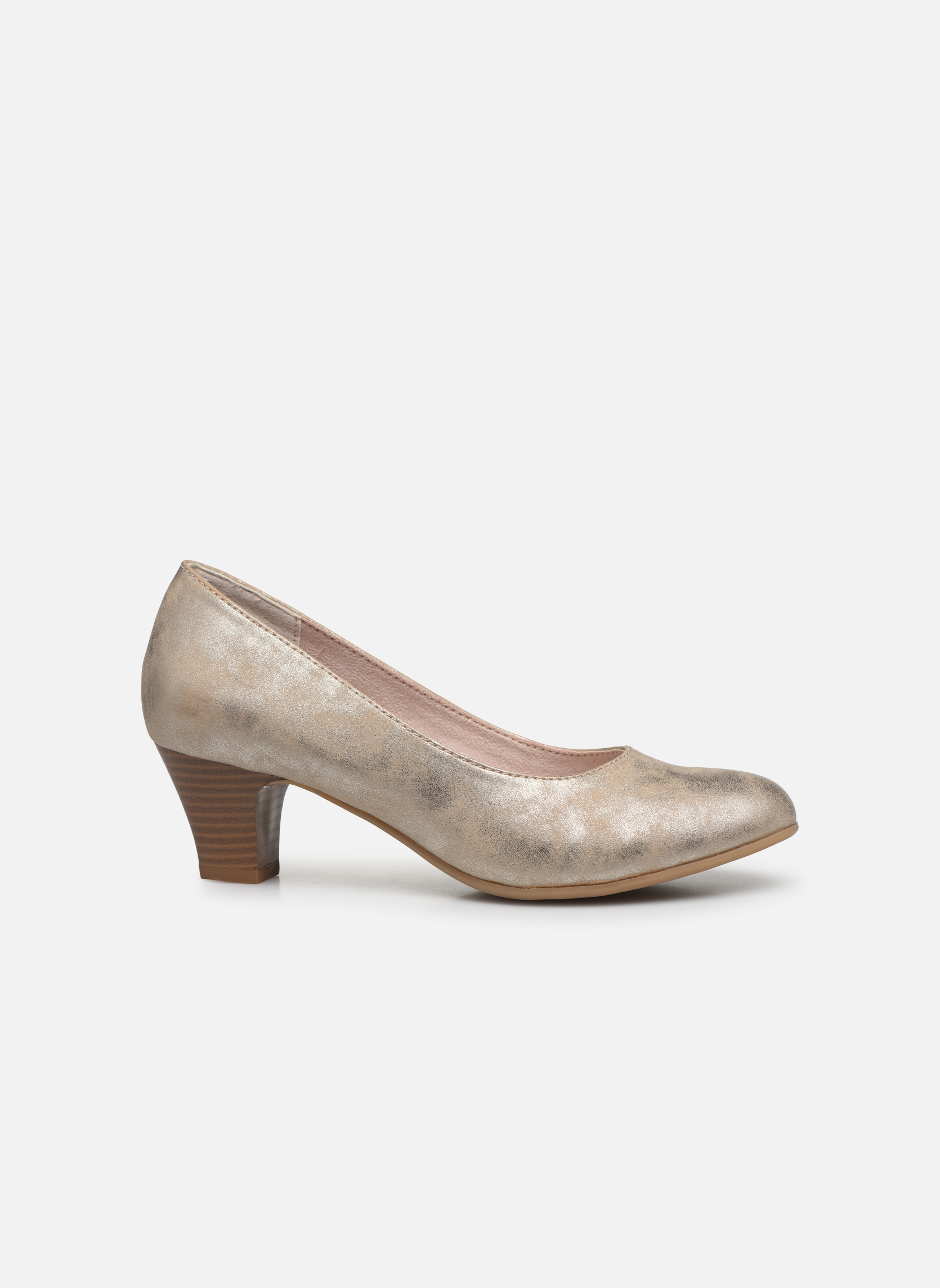 High heels Jana shoes Anis Bronze and Gold back view
