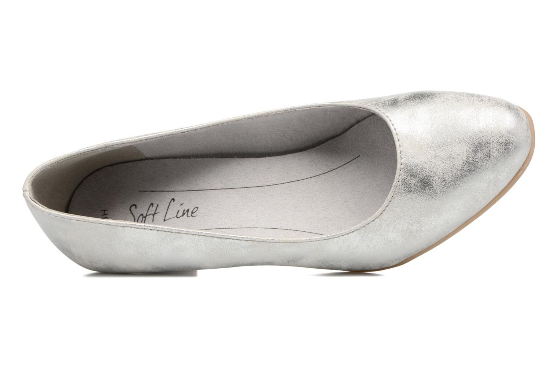 Escarpins Jana shoes Anis Argent vue gauche