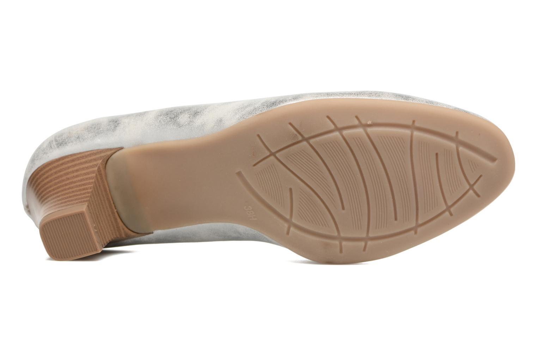 Escarpins Jana shoes Anis Argent vue haut