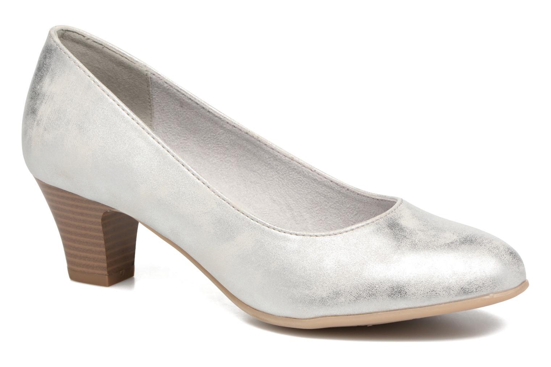 Escarpins Jana shoes Anis Argent vue détail/paire