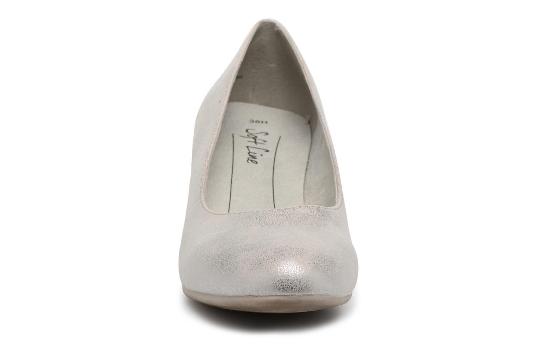 Pumps Jana shoes Anis silber schuhe getragen