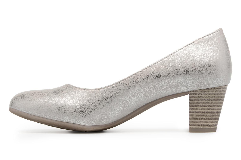 Pumps Jana shoes Anis silber ansicht von vorne
