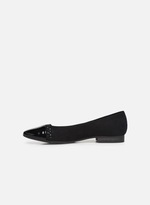 Ballet pumps Jana shoes Glitter Black front view
