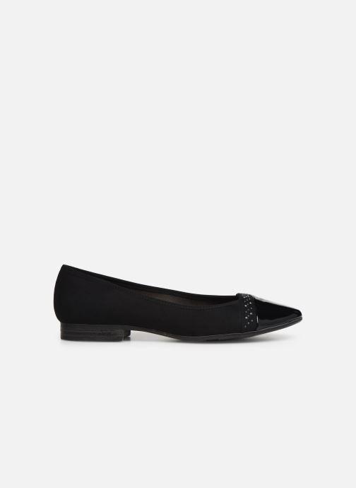 Ballet pumps Jana shoes Glitter Black back view