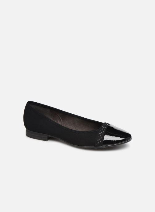 Ballet pumps Jana shoes Glitter Black detailed view/ Pair view