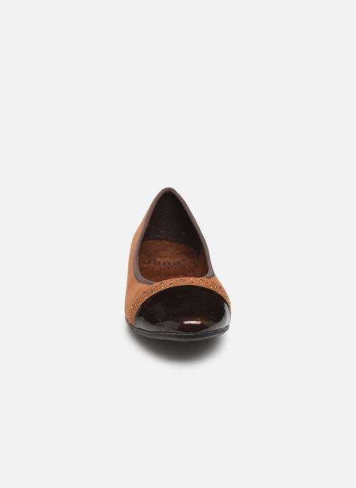 Ballerines Jana shoes Glitter Marron vue portées chaussures