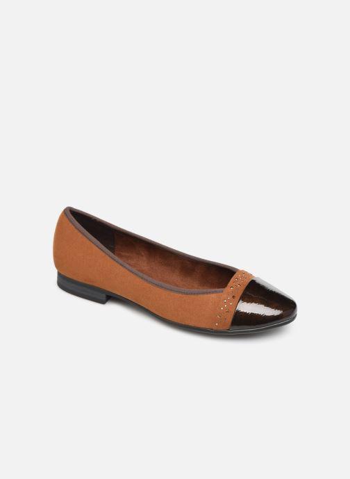 Ballerines Jana shoes Glitter Marron vue détail/paire