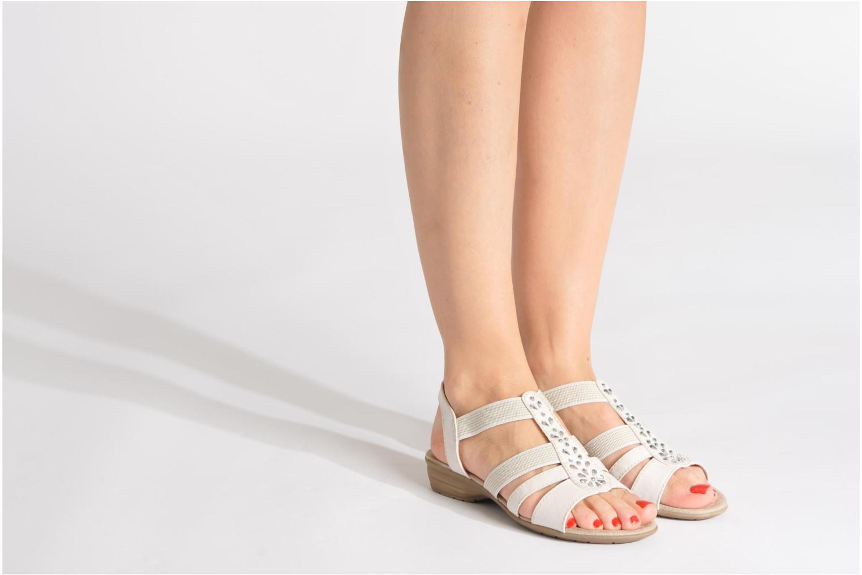 Sandales et nu-pieds Jana shoes Helen Bleu vue bas / vue portée sac