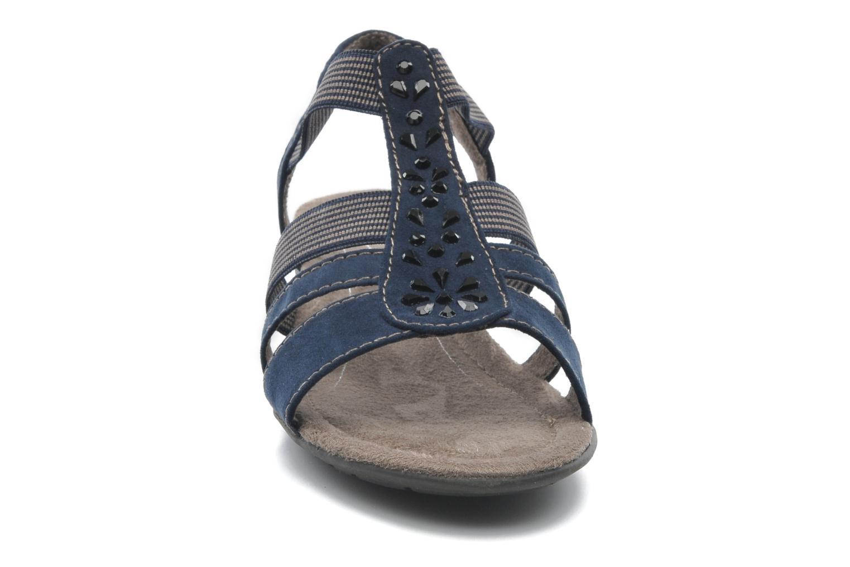 Sandales et nu-pieds Jana shoes Helen Bleu vue portées chaussures