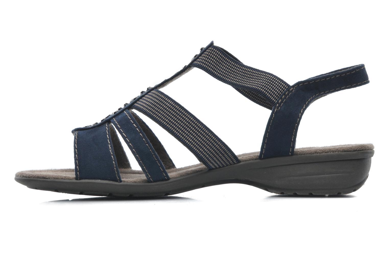 Sandales et nu-pieds Jana shoes Helen Bleu vue face