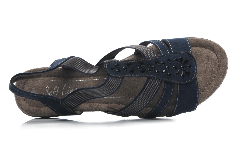 Sandales et nu-pieds Jana shoes Helen Bleu vue gauche