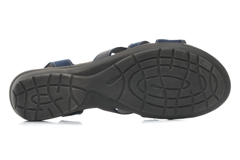 Sandales et nu-pieds Jana shoes Helen Bleu vue haut