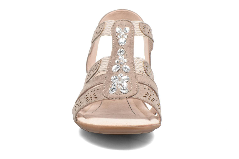 Sandales et nu-pieds Jana shoes Helen Beige vue portées chaussures