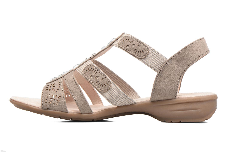 Sandales et nu-pieds Jana shoes Helen Beige vue face