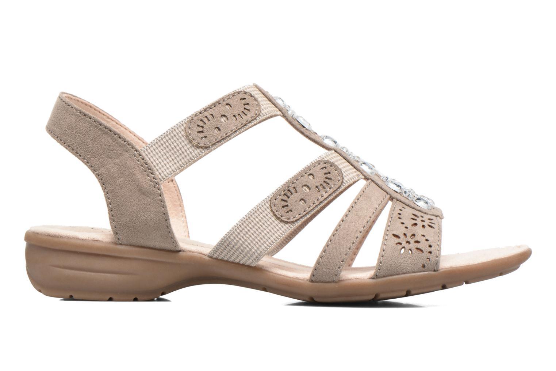 Sandales et nu-pieds Jana shoes Helen Beige vue derrière