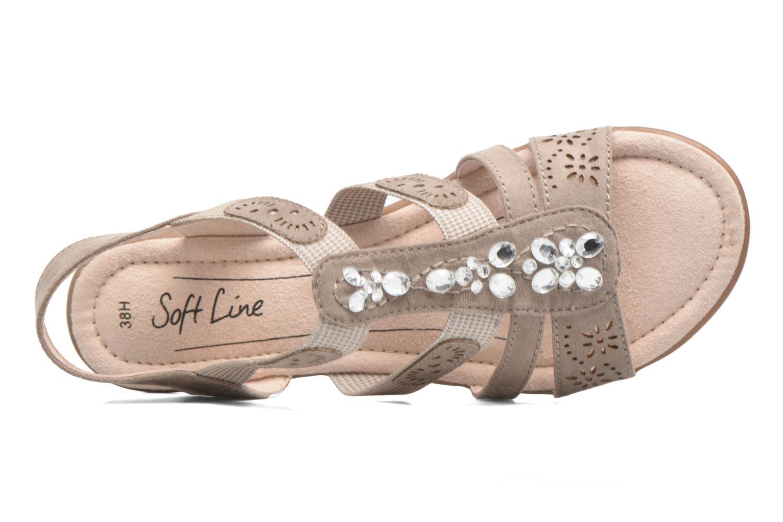Sandales et nu-pieds Jana shoes Helen Beige vue gauche
