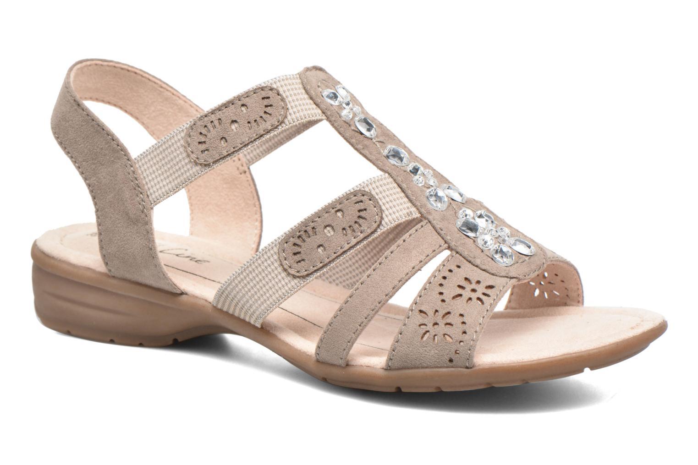Sandales et nu-pieds Jana shoes Helen Beige vue détail/paire