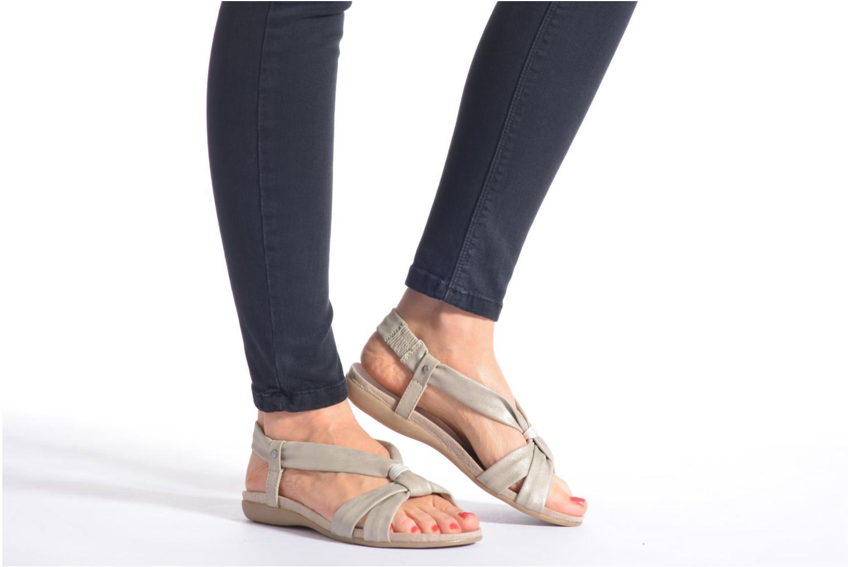 Sandales et nu-pieds Jana shoes Jana Noir vue bas / vue portée sac
