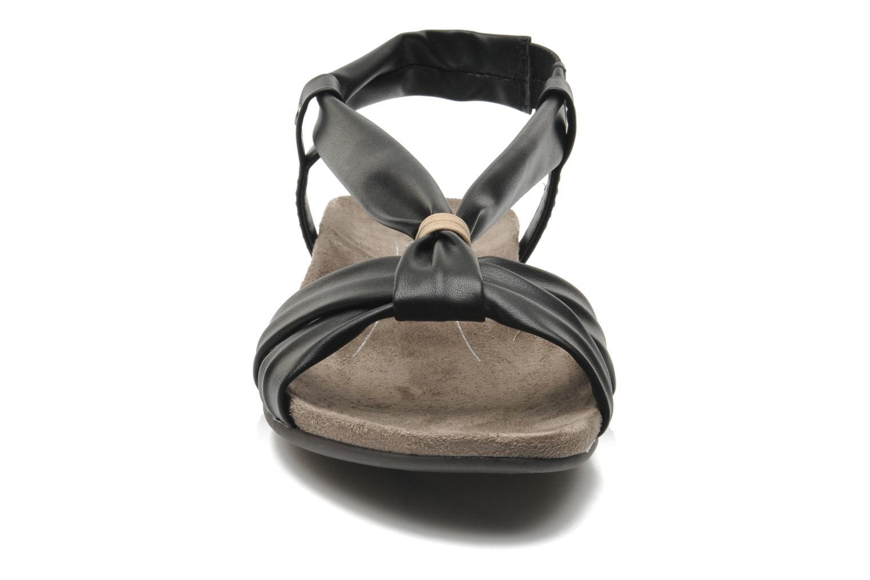 Sandales et nu-pieds Jana shoes Jana Noir vue portées chaussures