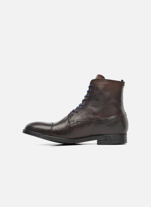 Ankle boots Azzaro virtuose Brown front view