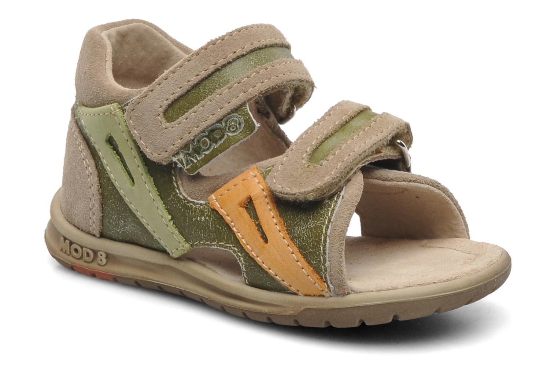 Sandales et nu-pieds Mod8 ILUX Vert vue détail/paire