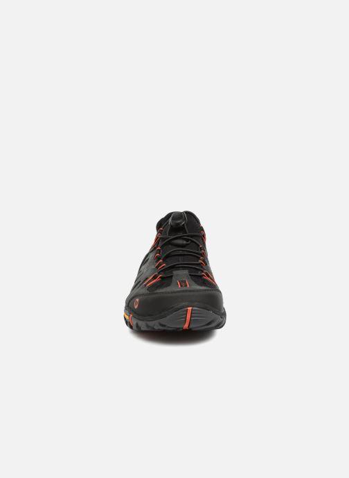 Chaussures de sport Merrell Allout Blaze Sieve Gris vue portées chaussures