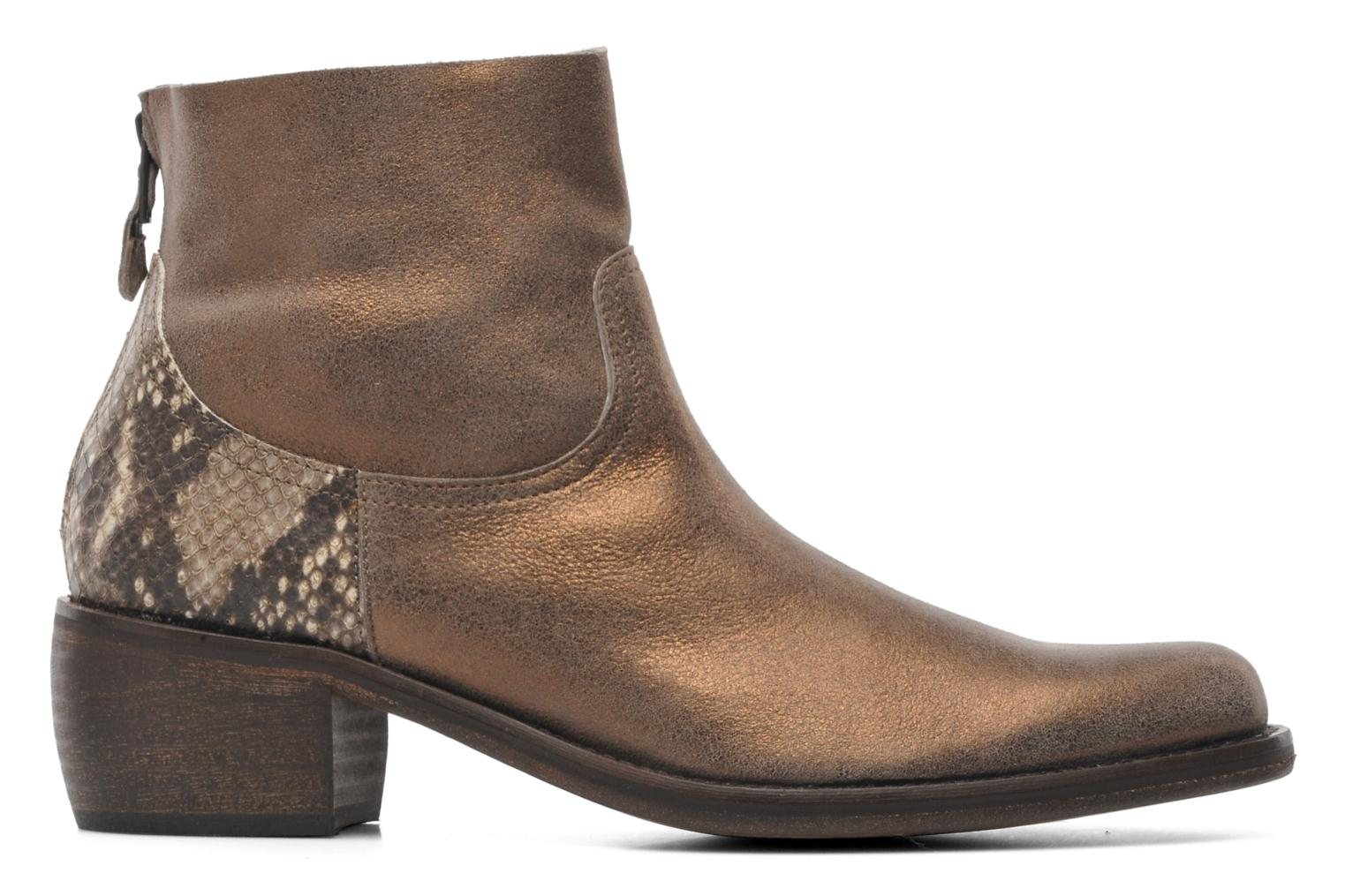 Ankle boots Elizabeth Stuart Oman 591 Bronze and Gold back view